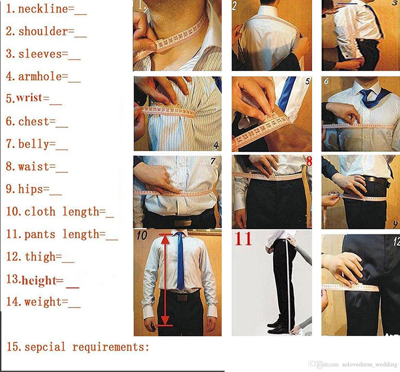 Solovedress Resmi Düğün Erkekler Yeni 3 Parça Damat Smokin Takım Elbise Çentikli Yaka Slim Fit Blazer Groomsmen Suits Ceket + Pantolon + Yelek