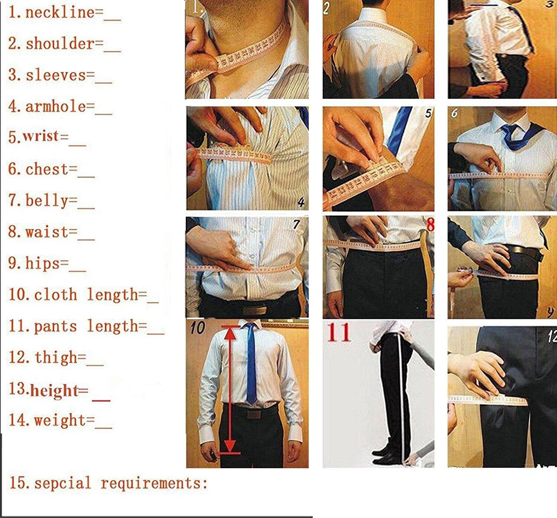 Solovedress Uomo Completo Bianco Slim Fit Tre Pezzi GroomsmanTuxedos Jacket Tux Vest Pantaloni Set Groom Abiti da sposa convenzionali