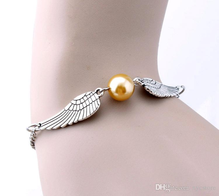 Book The golden Snitch Bracelets Antique Silver Bronze Snitches Bracelets Wristband Fashion Jewelry for Women
