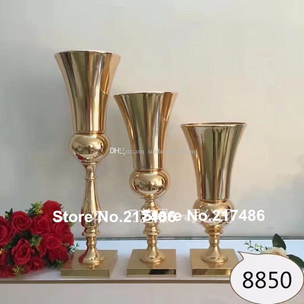 new produce Wedding candle holder Walkway Stand gold iron Flower Stand Pillar Wedding table Centerpiece