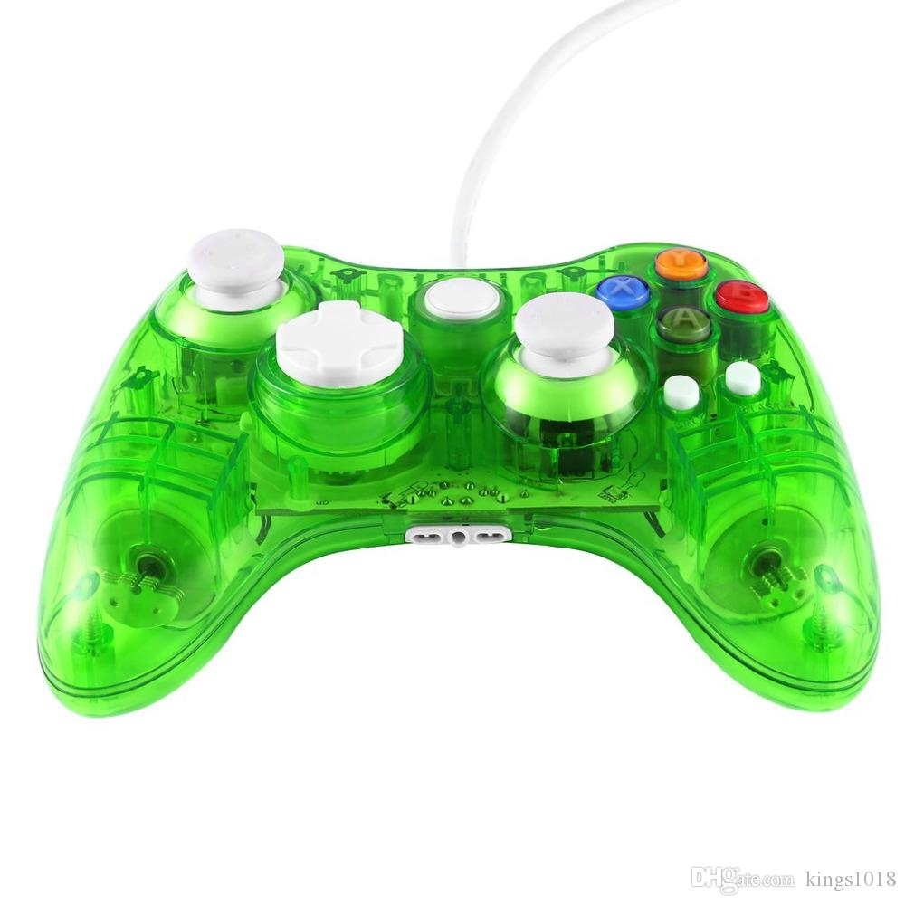 Xbox 360 Wired Controller Pc Blinking: Transparent USB Wired Game Controller Joypad Gamepad Joystick with rh:dhgate.com,Design