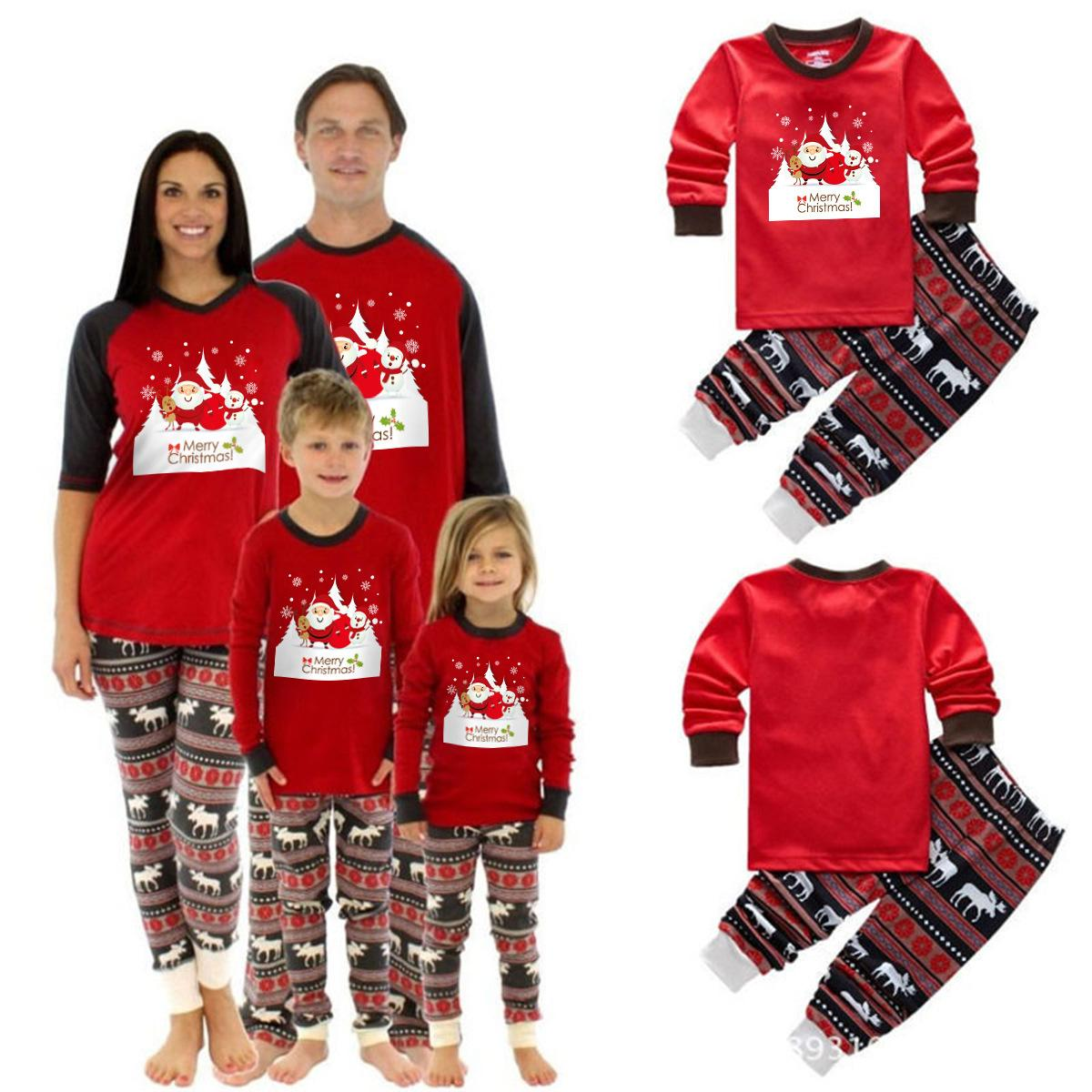 ce05549ced58 Xmas Moose Fairy Family Pajamas Sets Christmas Deer Elk Adult Children  Sleepwear Striped Nightwear Photgraphy Prop Party Clothing Homewears  Costumes For ...
