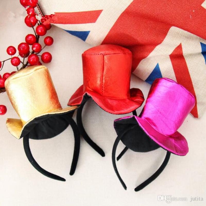 2018 Top Hat Headband Women Girls Adults Headwear Birthday Wedding Christmas Party Favors