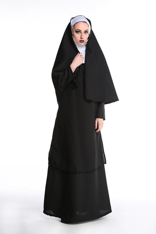 2019 Sexy Women Church Of The Mother Of The Virgin Mary Maria Costume For  Role Nun Halloween Costumes From Morph1ne b788f59b935a