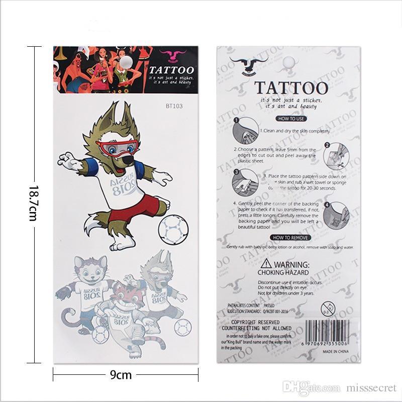 2018 Nouveau Imperméable À L'eau Temporaire Tatouages Coupe Du Monde Football Drapeau National Fournitures De Tatouage Visage Corps Corps Art Tattoo Sticker Pour Enfants Adulte