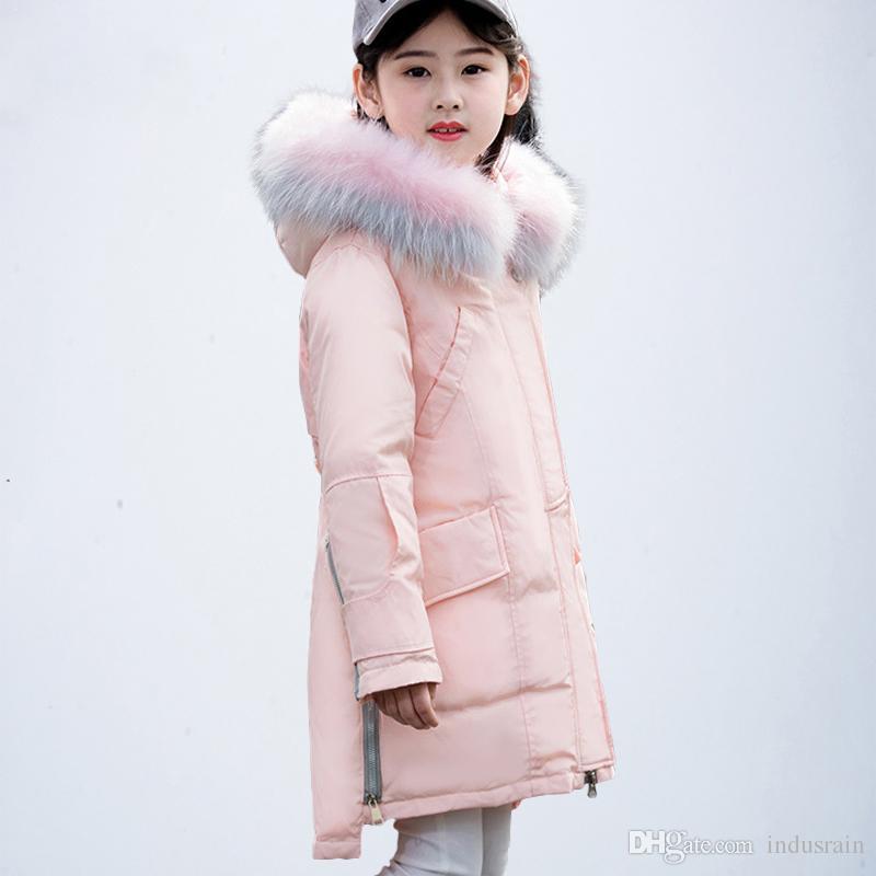 9a7f0a2bee0d Children Winter Coat Teenage Girls Clothing Kids Big Girls Winter ...