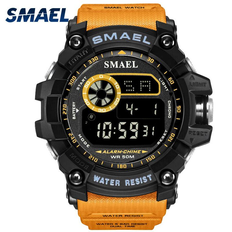 SMAEL Digital Watch for Men Multifunctional LED Watch Digital Clock Men Big Dial Watches Sport 8010 50m Waterproof Sport Watches