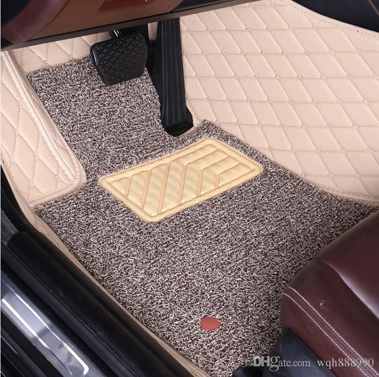 Custom fit car floor mats for Hyundai Verna Accent Solaris all weather high  quality 3D car-styling carpet rugs liners (2006-)