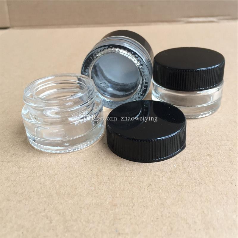 dab imballaggio bottiglie mini vasi di vetro di cera vuoto concentrano Container 5ml 3ml Shatter Imballaggio di trasporto del DHL