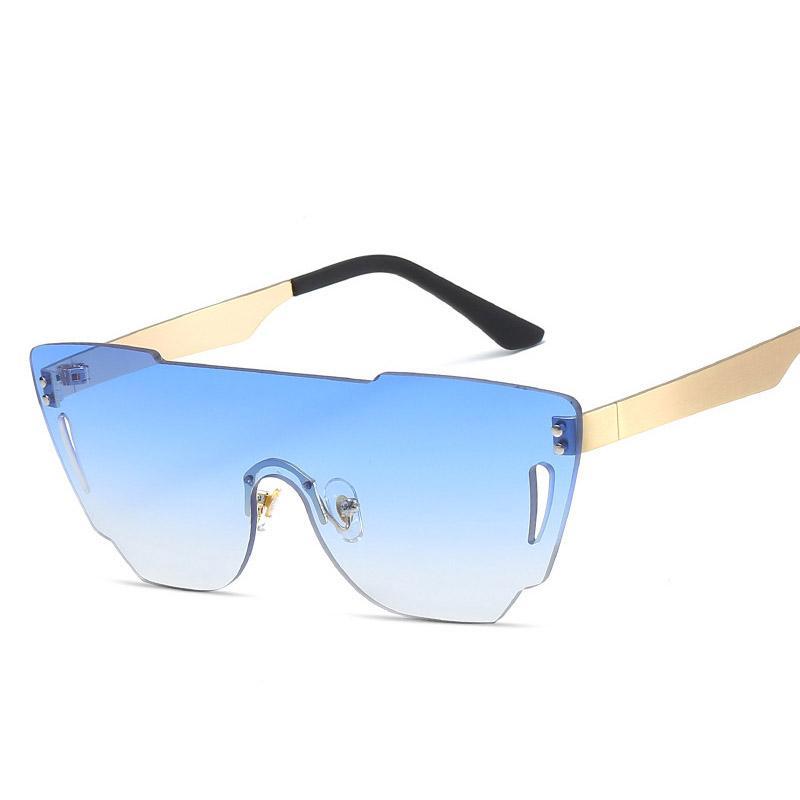 Compre Gafas De Sol Sin Montura De Gran Tamaño Mujeres Diseñador De ...