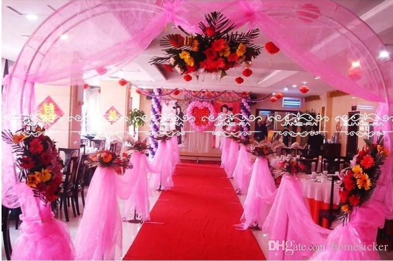 i nastro di moda rotolo organza tulle filato sedia coperture accessori lo sfondo di nozze decorazioni tenda forniture 50m / roll
