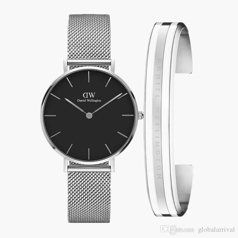 With original box New Silver Luxury Fashion Classic Bracelet Available for Daniel Watches Man and Woman Dress Quartz Watch Gift Wristwatches