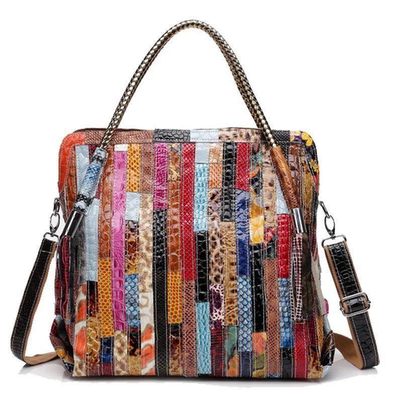 Women Leather Handbags Shoulder Crossbody Bags Genuine Leather Bags For  Women Bolsas Ladies Tote Bag Colorful Tassel Snake Bag Y18102504 Ladies Bags  Leather ... 2334ff588d