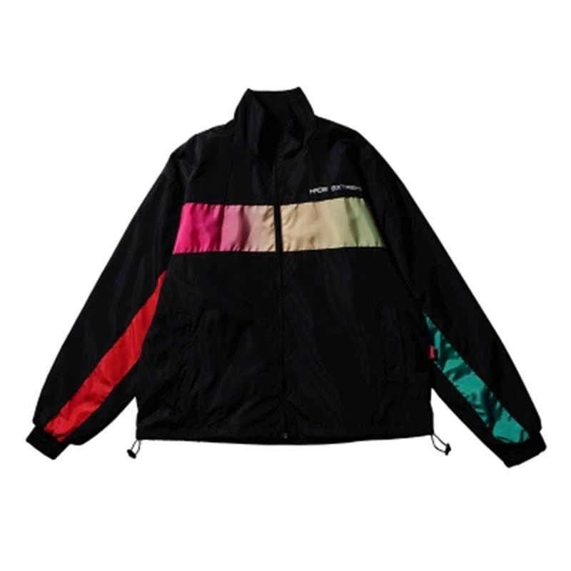 6a143cd378 Mens Stand Collar Jacket Windbreaker Coaches Coat Varsity Streetwear  Baseball Flight Jackets Outwear Modis Abrigo Hombres 6J037