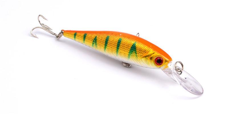 Simülasyon Plastik Balık Sığ Yüzme Wobbler Minnow Balıkçılık yem kanca 10 cm 9.4g PS Boyalı Lazer cazibesi Tatlısu Crankbait