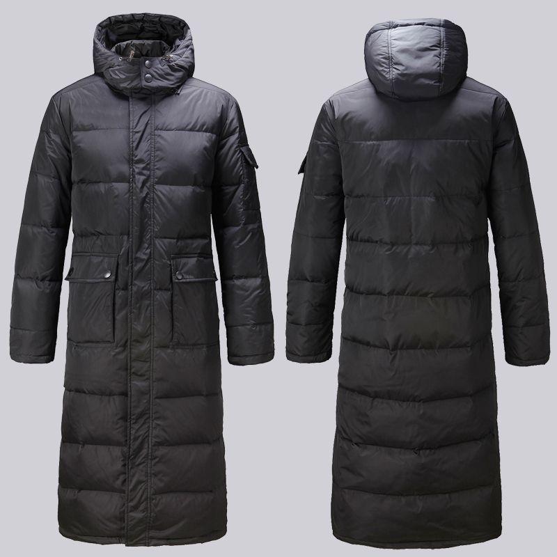 Winter plus Größe X lange Design dicke Männer Mantel männliche dünne Hoody große Männer Kleidung Oberbekleidung S 2XL 3XL extra lange Daunenjacke