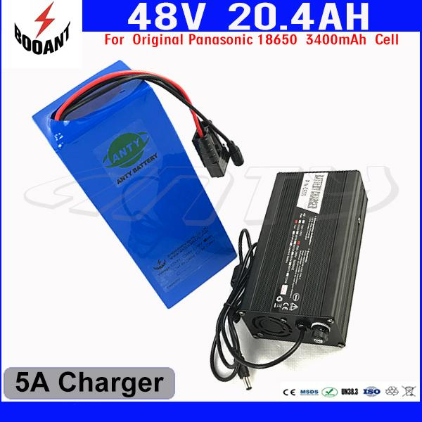 BOOANT US EU Free Customs Lithium Battery Pack For Bafang eBike Motor 1000W With 5A Charger 48V 20AH Electric Bicycle Battery