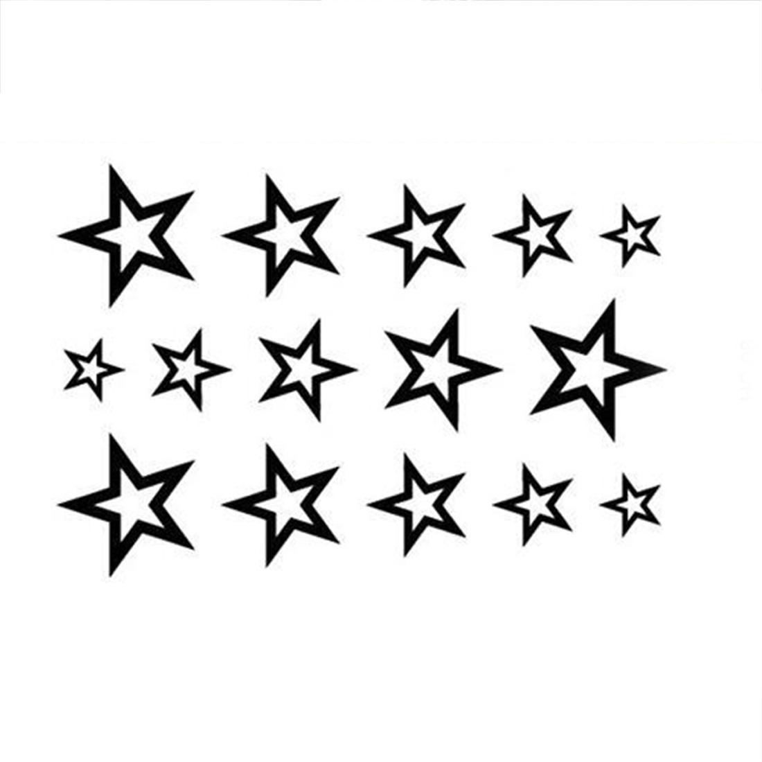 Waterproof Temporary Tattoo Sticker Stars Tattoo Water Transfer Fake Flash  For Men Girl