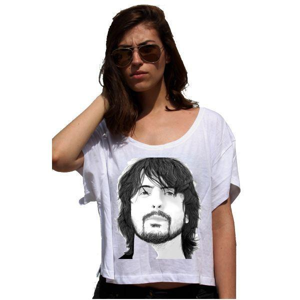premium selection 02071 ab959 DAVE GROHL Foo Fighters Lady 80 S Cotton Touch T-shirt Damen Crop Top