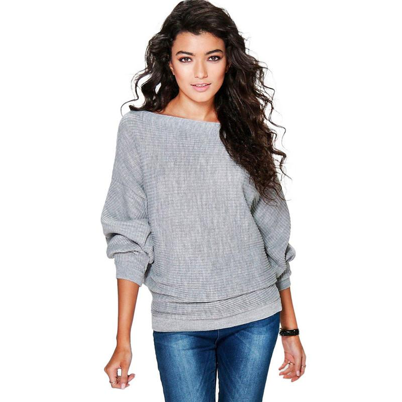 69ab2d73a037 Autumn Winter Women Sweaters Pullovers Korean Style Batwing Long Sleeve  Casual Sweater Solid Knitted Jumpers Female Sweter Mujer Online with  $37.18/Piece on ...