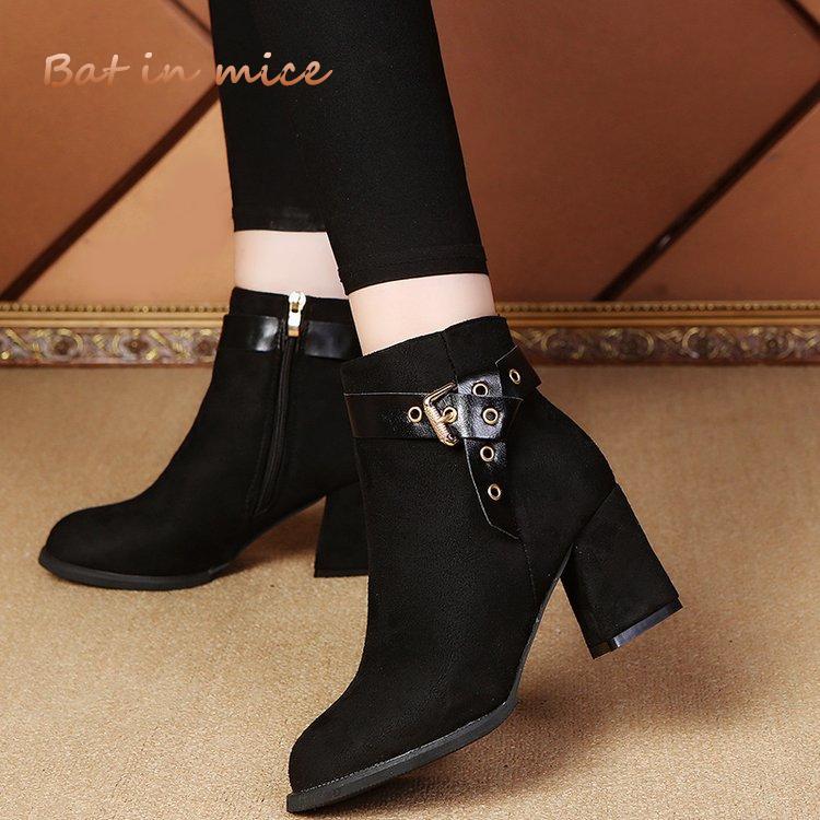 80863262f72be6 Acheter Femmes Bottes Mode Sexy Cheville Hiver Nouveau Décontracté Bottes  Confortables Fermeture À Glissière Talons Hauts Femmes Chaussures Pompes  Zapatos ...