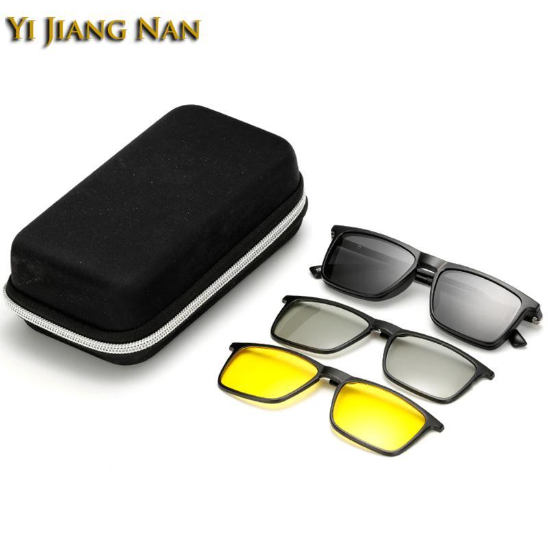 9dcafe2c1f Yi Jiang Nan Brand TR90 Frames Fashion Designer Eyeglasses Magnet ...