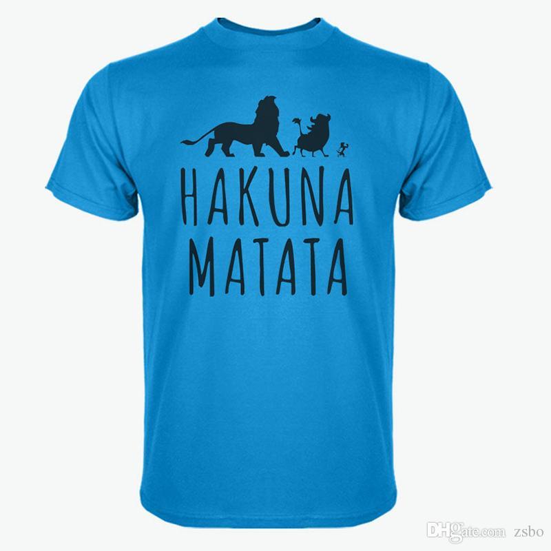 Camiseta de algodón de verano 2017 Lion King con más estilo de gran tamaño camiseta de manga corta camisa de moda Slim y camiseta de los hombres