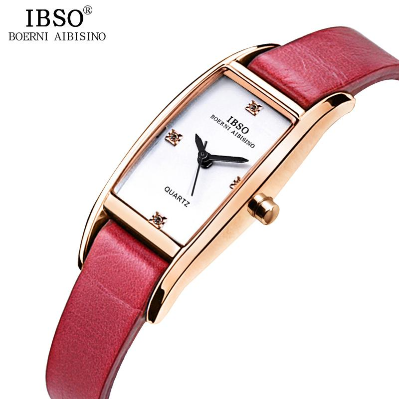 c643c3a4d5ea IBSO 7mm Rectangle Ultra Thin Ladies Watches Top Brand Luxury Crystal  Diamond Leather Strap Women Watches 2018 Relogio FemininoY1883103  Wristwatches Watch ...