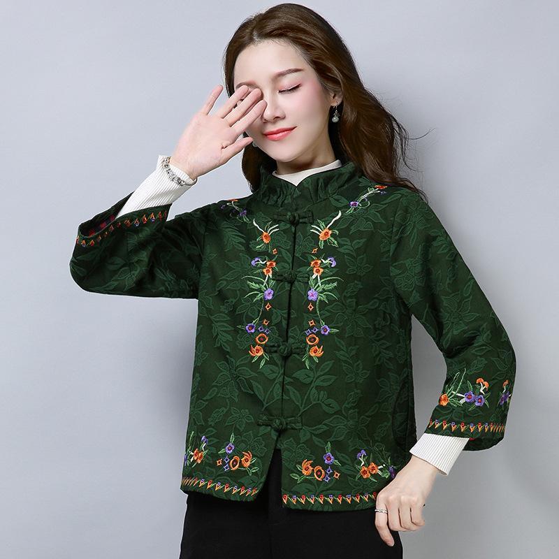 3fc0c3124596e Compre Chaqueta Bordada Boho Chic Hippie Ropa Chaquetas Bomber Estilo  Japonés Chaquetas Kimono Mujer Invierno 2018 DD1728 S A  62.09 Del  Zhenhuang