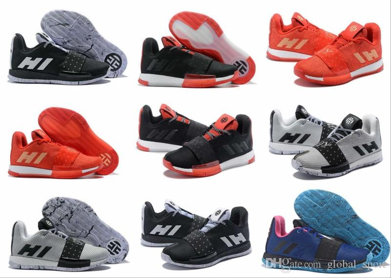 Newst Mens Harden Vol. 3 MVP Basketball Shoes Weaving Sneakers Men Red Grey Black  James Harden 3s Outdoor Trainers Sports Shoes Size 7 11.5 Sneakers Shoes ... 6d9cb4590