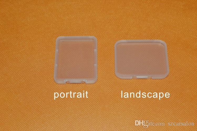 Caja de almacenamiento caja de plástico transparente caja de la tarjeta de 7,5 mm estándar titular súper clara cuadro blanco para TF tarjeta micro SD XD CF