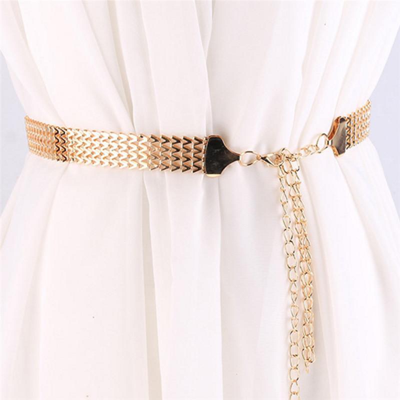Compre Cinturones De Cadena Correa Elástica Elegante Cinturón Cinturón De  Diseño De Metal Cinturones De Diamantes De Lujo Para Mujer Cintura Delgada  Para ... 5c26081d91c8