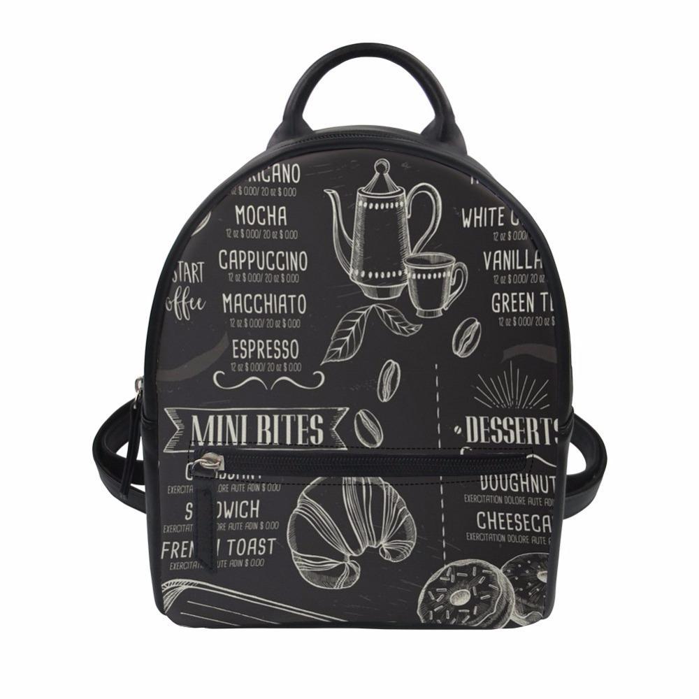 84ecf94c1ab4 Women Small Backpack 3D Coffee Pattern Printed Mini Backpack Lady PU  Leather For Teenage Girls Bag Customized Mochilas Hiking Backpack Swiss  Gear Backpack ...