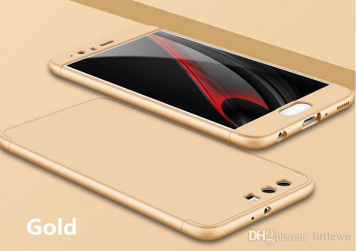 Huawei P10 + Cep Telefonu Kılıfı için 3-In-1 360 Derece Tam Vücut Darbeye Zırh Hard Case Arka Kapak Akıllı Kapak Için Huawei P10 Artı