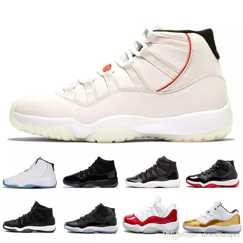 new product 1b5c4 6ecd4 Concord 45 prom night XI 11s 11 Cap and Gown Men women Basketball Shoes  Grey Suede bred space jam Mens Trainers Sports sneakers
