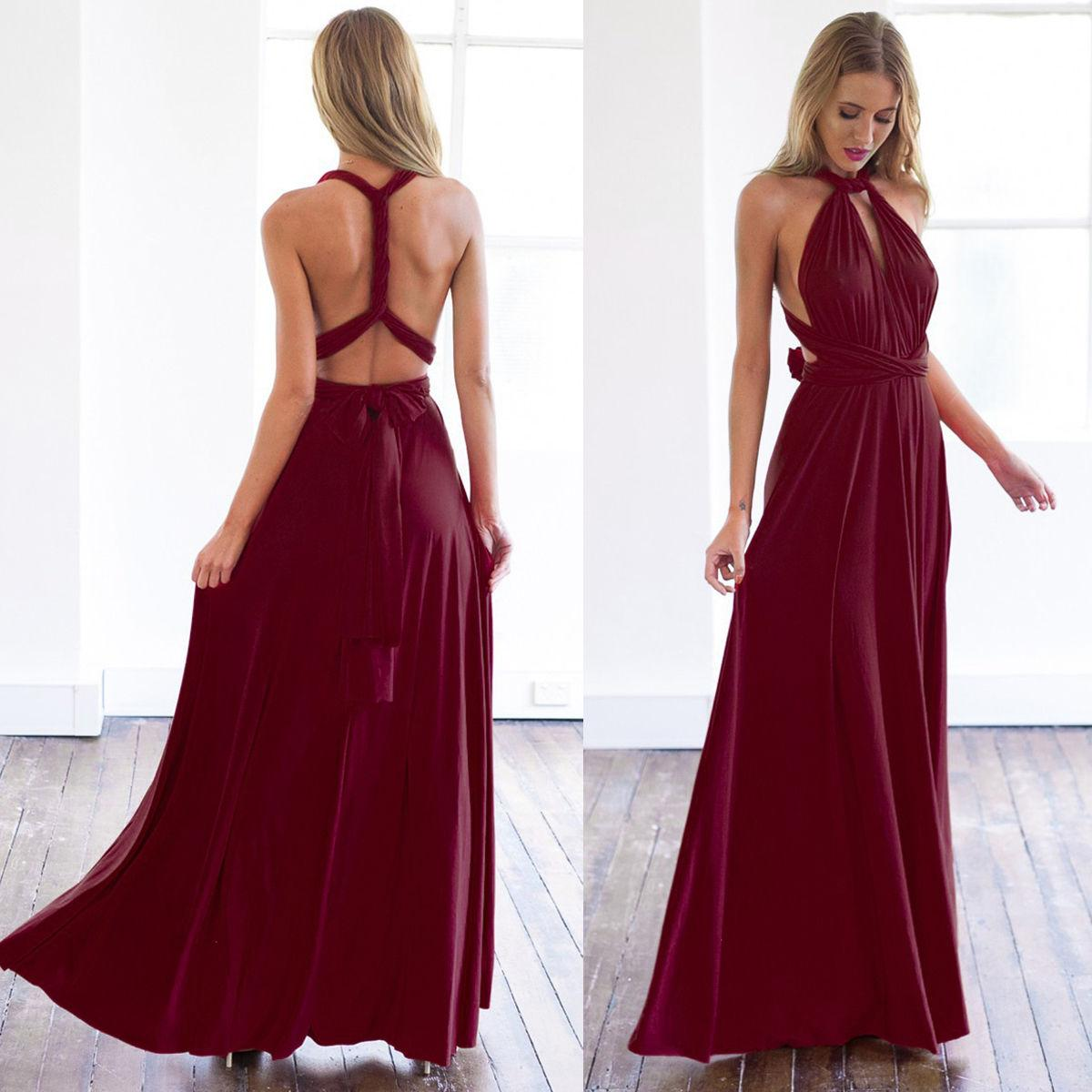 df3e657454 Women  s Elegant Women Evening Dress Convertible Multi Way Wrap Bridesmaid  Formal Long Dresses Dance Gown Formal Long Dresses HJ075