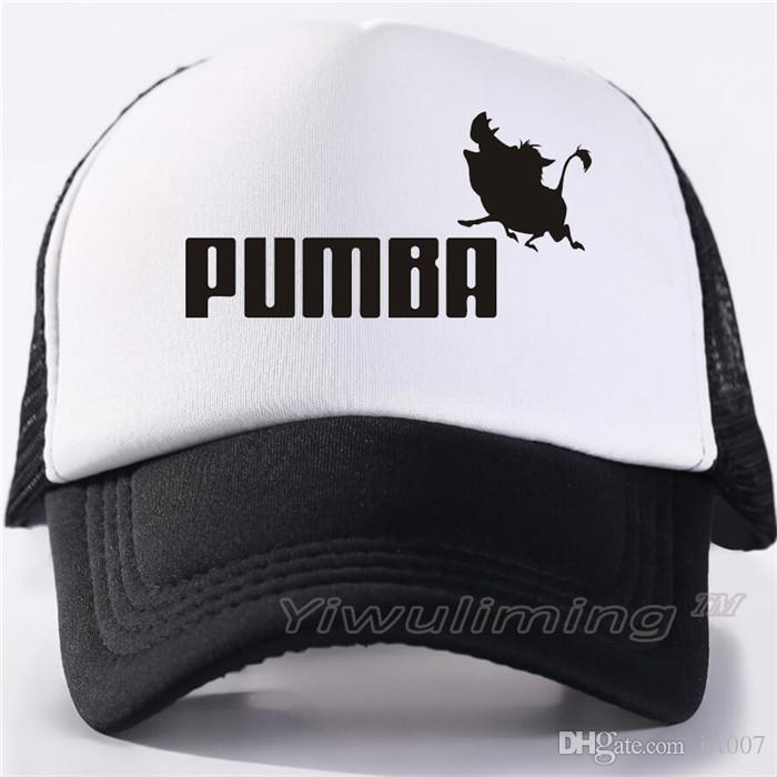 8a2dbea008bb3 Trucker Caps Lion King Funny Hat Cap Men Pumba Hakuna Matata Baseball Cap  Cool Summer Mesh Net Trucker Cap Hat For Men Embroidered Hats Leather Hats  From ...
