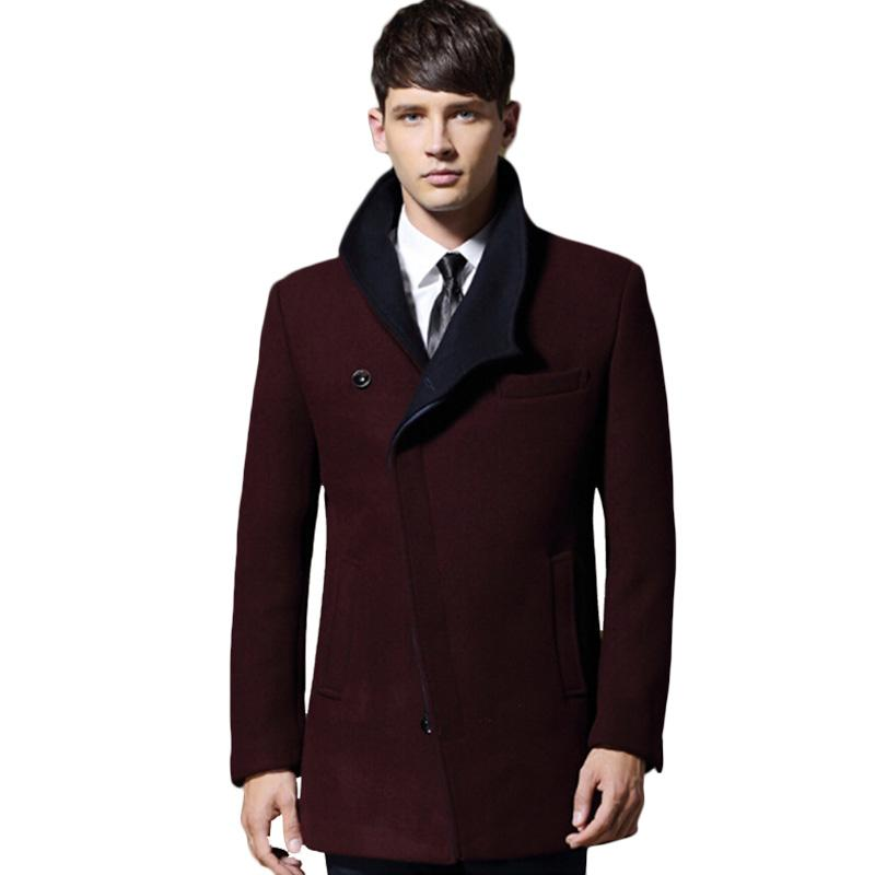 045569acb12 2019 2018 Mens Winter Wool Coat For Men Slim Fit Fashion Jackets Mens Casual  Warm Outerwear Jacket Overcoat Pea Coat Plus Size XXXL From Honjiao