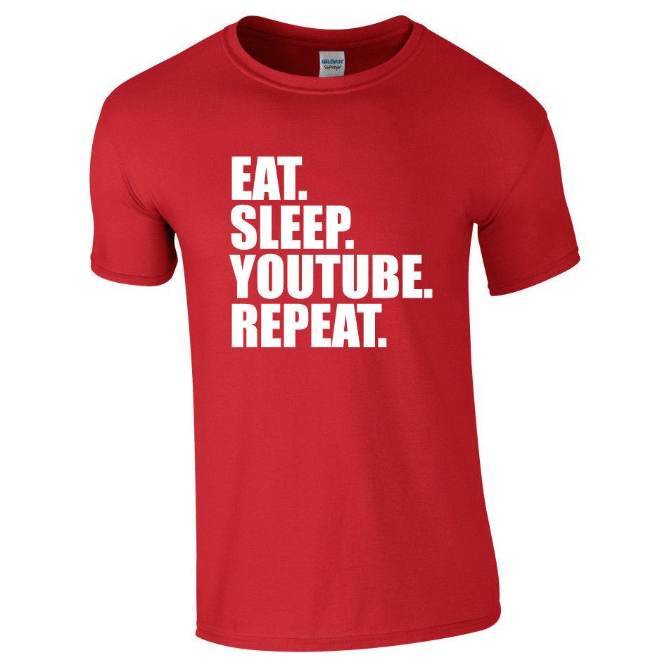 f9bc193341012 YOUTUBE. REPEAT. TShirt Tee Top Funny Youtuber Mens Kids Children S Funny  Unisex Tee Best Designer T Shirts Funny Team Shirts From Tshirt press