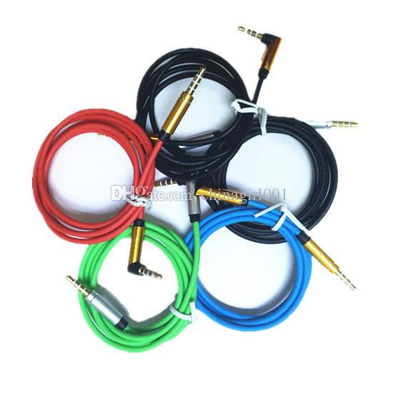 1M 3.5mm audio cable 90 degree Right Angle aux cable Aux Audio Extension Cable for iphone for samsung mp3 headphone