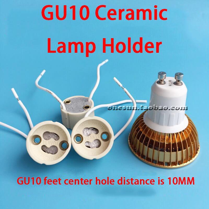 7CM 10CM 15CM 20CM 30CM GU10 Pure White Ceramic Lamp Holder Weaving Wire Silicone Wire Optional