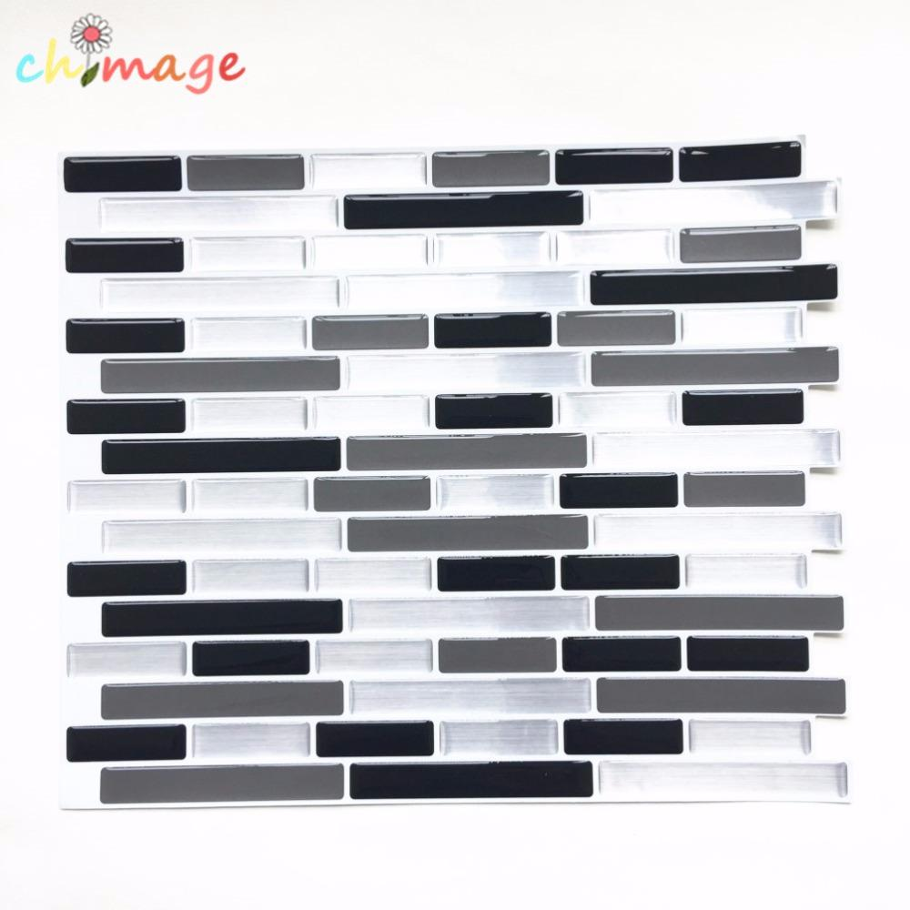 Self Adhesive Mosaic Tile Wall Decal Sticker Diy Kitchen Bathroom ...