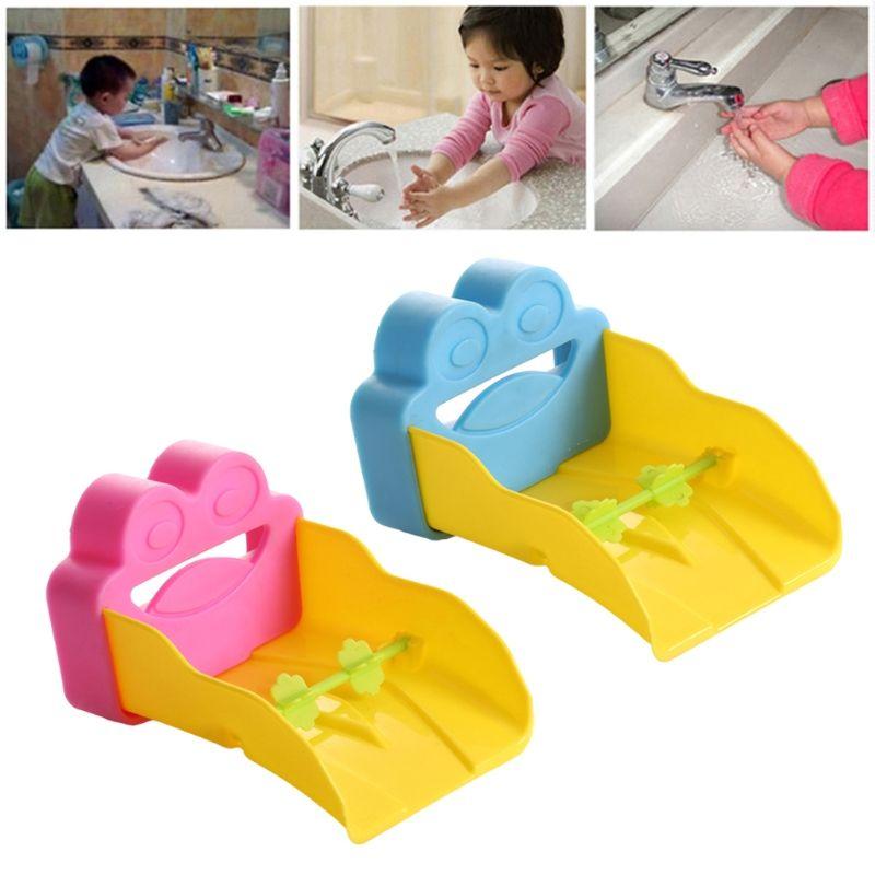 2018 Cartoon Frog Sink Faucet Extension Kids Children Washing Hand ...