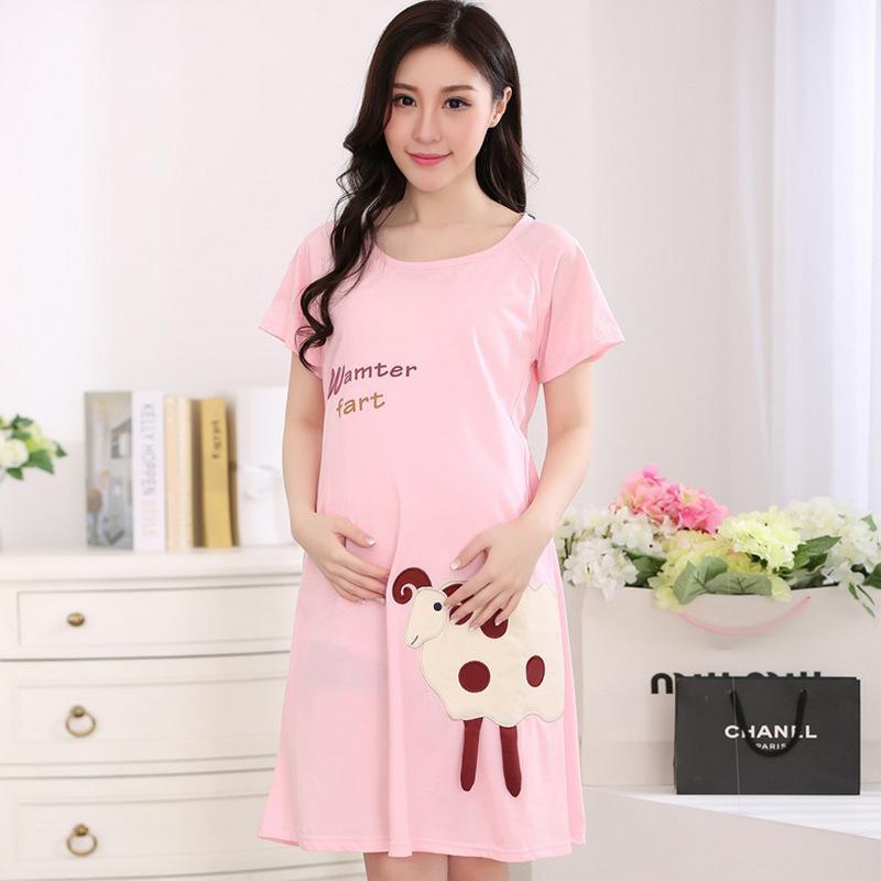 2018 2017 Summer Cute Nursing Sleepwear Womens Maternity Clothes ...