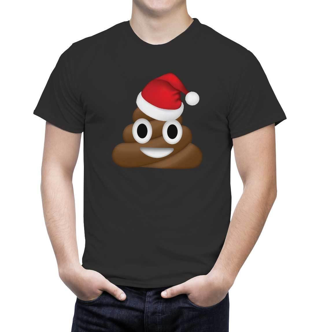 Christmas tshirts - emoji poop - emojii poo - kids / adults sizesMens 2018 fashion Brand T Shirt O-Neck 100%cotton T-Shirt Tops Tee