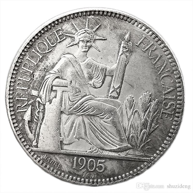 e384a4c293 Acquista 1905 Francia Monete Monete Antiche In Argento La Statua Della  Libertà Monete Ricordo A $4.73 Dal Shuzideng   DHgate.Com