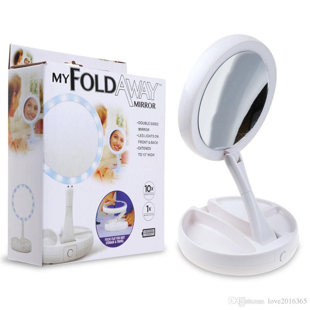 37e15af7bdc My Foldaway Mirror The Lighted Double Sided Vanity 10x Magnification ...
