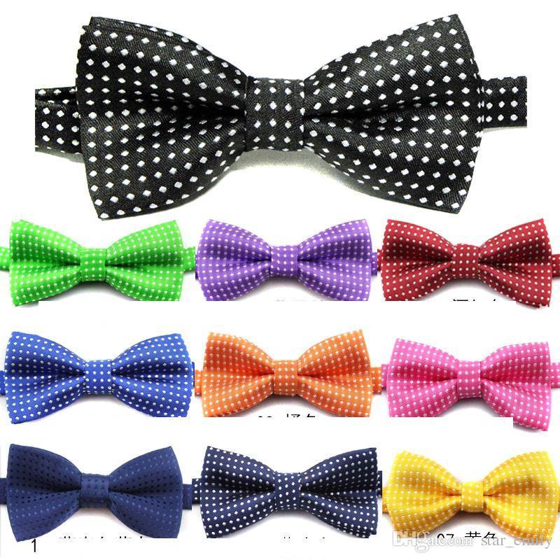 7c32224bf59b7 Acheter Nouveaux Enfants Bowties Cravates Pour Hommes Enfants Accessoires Noeuds  Papillon Garçons Noeud Papillon Couleur Pure Noeud Papillon Casual Star ...