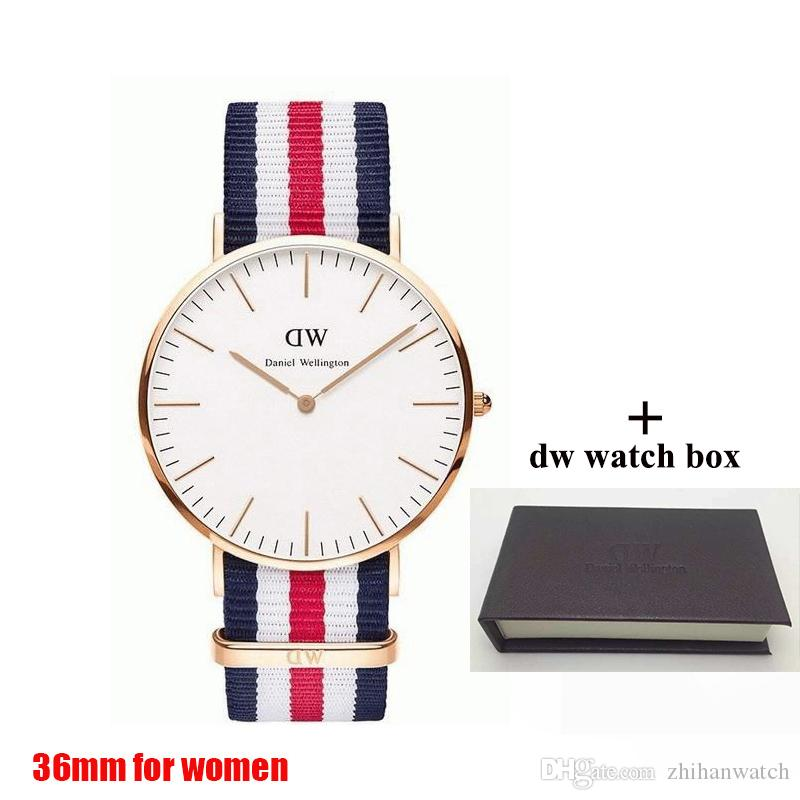 8cc6de385d54f 2018 Famous Brand Womens Daniel WATCHes Fashion Nylon Strap Style 36mm Rose  Gold Women Watch with Gift Box Quartz Watch Female Clock Relojes Daniel  Watches ...