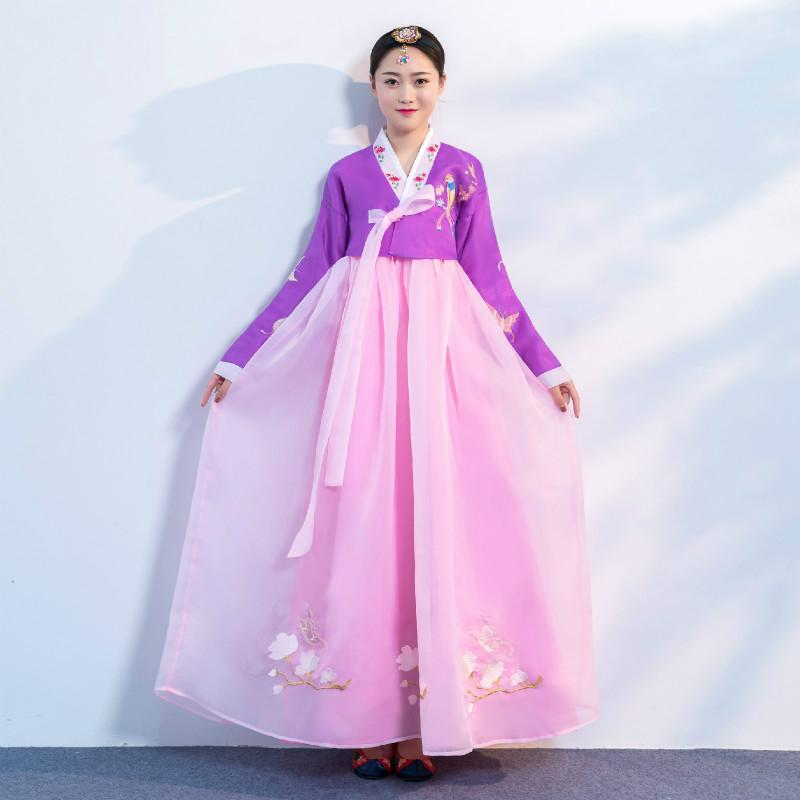 Acquista Hanbok Coreano Costume Tradizionale Matrimonio Hanbok Le Donne  Vintage Corea Del Sud Coreano Minoranza Costumi Costume Antico A  66.26 Dal  Stripe ... 2ec14d523b7